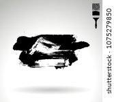 black brush stroke and texture. ... | Shutterstock .eps vector #1075279850