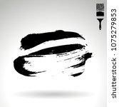 black brush stroke and texture. ...   Shutterstock .eps vector #1075279853