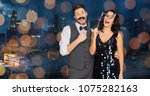 celebration  fun and holidays... | Shutterstock . vector #1075282163