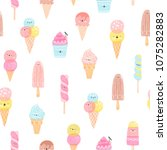 cute ice cream characters... | Shutterstock . vector #1075282883