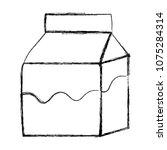 grunge fresh milk box healthy... | Shutterstock .eps vector #1075284314