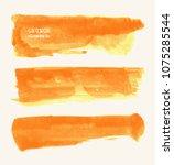 vector set of orange brush... | Shutterstock .eps vector #1075285544