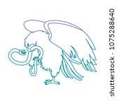eagle devouring snake mexican... | Shutterstock .eps vector #1075288640