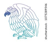 attacking eagle wild icon | Shutterstock .eps vector #1075289546