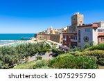 seascape of termoli  an...   Shutterstock . vector #1075295750