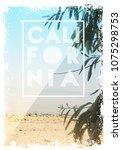 photo print california poster... | Shutterstock . vector #1075298753