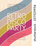 Retro Disco Party. Abstract...