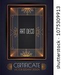 elegant vintage card  flyer ... | Shutterstock .eps vector #1075309913