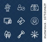 premium set with outline icons. ...   Shutterstock .eps vector #1075314629