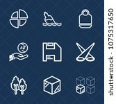 premium set with outline icons. ... | Shutterstock .eps vector #1075317650