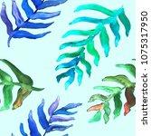 watercolor hand drawn summer... | Shutterstock . vector #1075317950