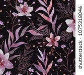 botanical illustration.... | Shutterstock . vector #1075318046