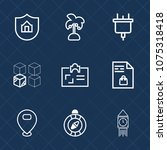 premium set with outline icons. ... | Shutterstock .eps vector #1075318418