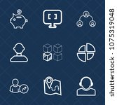 premium set with outline icons. ... | Shutterstock .eps vector #1075319048