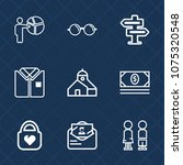 premium set with outline icons. ...   Shutterstock .eps vector #1075320548