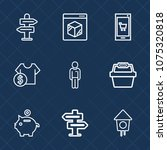 premium set with outline icons. ...   Shutterstock .eps vector #1075320818