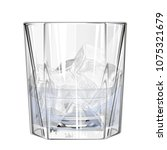 glass with ice cubes and water... | Shutterstock .eps vector #1075321679