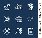 premium set with outline icons. ...   Shutterstock .eps vector #1075322174