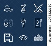 premium set with outline icons. ... | Shutterstock .eps vector #1075322180