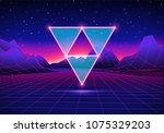 retro 80s hipster styled... | Shutterstock .eps vector #1075329203