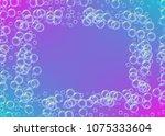 cleaning foam on gradient... | Shutterstock .eps vector #1075333604