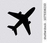 vector icon of airplane with 2... | Shutterstock .eps vector #1075338233