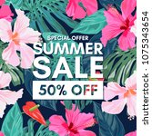 Summer Sale Tropical Colorful...