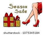 glitter design for store... | Shutterstock .eps vector #1075345184