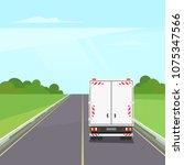 truck transportation on the... | Shutterstock .eps vector #1075347566