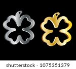 silver and gold pendant in the... | Shutterstock .eps vector #1075351379