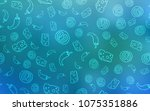 light blue vector background... | Shutterstock .eps vector #1075351886