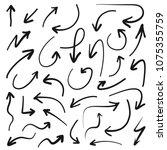 hand drawn vector arrows set  ...   Shutterstock .eps vector #1075355759