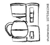 grunge coffee maker machine... | Shutterstock .eps vector #1075361348