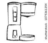 grunge coffee maker machine... | Shutterstock .eps vector #1075361354
