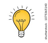 yellow lightbulb  vector eps10... | Shutterstock .eps vector #1075365140