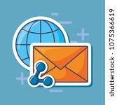 email marketing design | Shutterstock .eps vector #1075366619