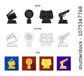 gold pistol  silver prize for...   Shutterstock .eps vector #1075367768
