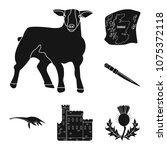 country scotland black icons in ... | Shutterstock .eps vector #1075372118