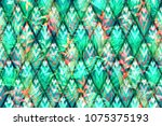 floral geometric tropical... | Shutterstock . vector #1075375193