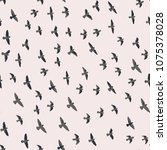 flying birds seamless pattern....   Shutterstock .eps vector #1075378028