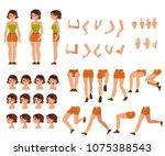 young woman creation set   girl ...   Shutterstock .eps vector #1075388543