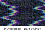 glitch. abstract shapes. chaos. ... | Shutterstock .eps vector #1075392494