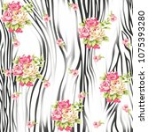flowers pattern. for textile ... | Shutterstock . vector #1075393280