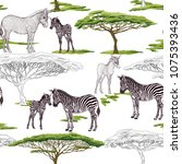 seamless pattern  background ...   Shutterstock .eps vector #1075393436
