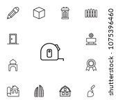set of 13 structure icons line... | Shutterstock .eps vector #1075396460