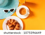Hat  Sunglasses Croissant With...