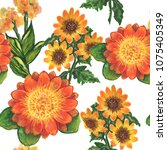 multicolored wildflowers in the ...   Shutterstock . vector #1075405349