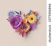 3d render  abstract floral...   Shutterstock . vector #1075406846