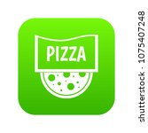 pizza badge or signboard icon... | Shutterstock .eps vector #1075407248