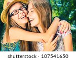 beautiful girls having fun in... | Shutterstock . vector #107541650